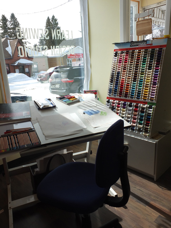 Algonquin Sewing and Design Studio does alterations and repairs.